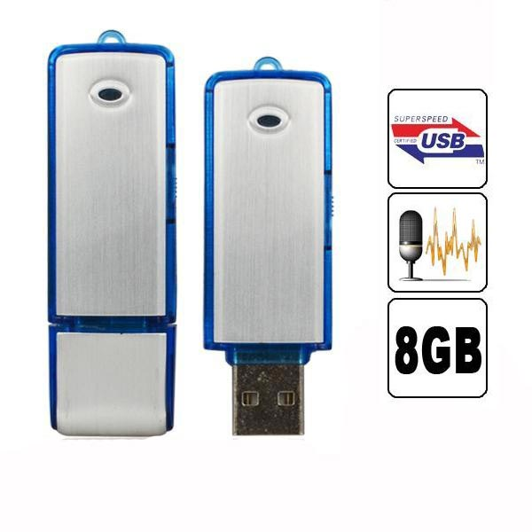 Køb 2 i 1 Mini 8GB USB 2.0 Digital Voice Optager Genopladelige Recording Pen Drive Lyd Audio ...