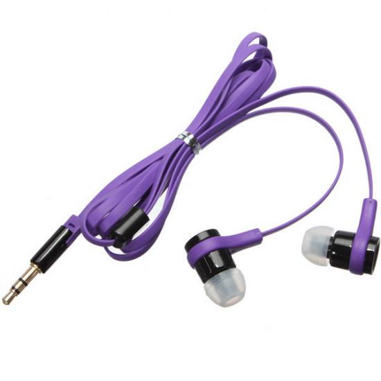 3.5MM In-Ear Earphone Headphone Earbud Headset Flat Cable 2021