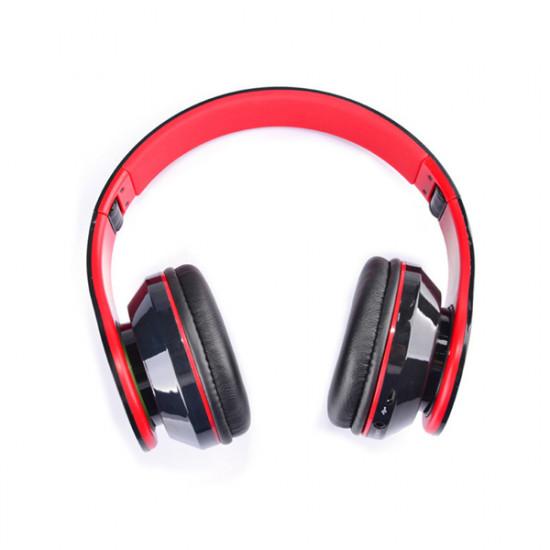 AT-BT809 Foldable Wireless Bluetooth Stereo Headphone Headset Mic FM TF Slot 2021