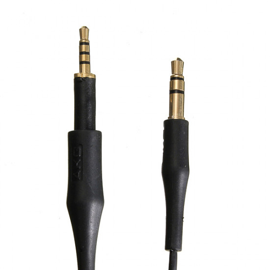 Black Replacement Audio Cable Lead Line Cord For AKG K450 Q460 K480 K451 2021