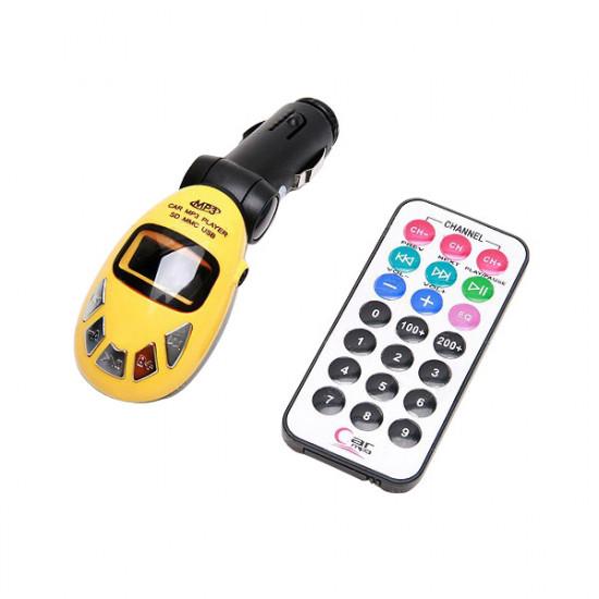 Car Kit Drahtlos MP3 Player FM Transmitter USB SD MMC Schlitz Fern 2021