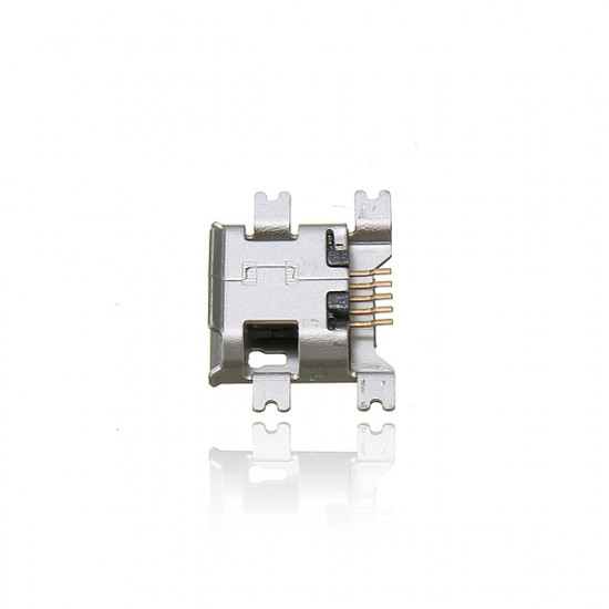Micro USB Type B Female 5Pin Socket 4Legs SMT SMD Soldering Connector 2021