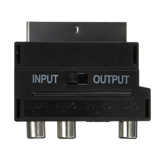 RGB Scart Hane till 3 RCA Hona S-Video AV TV Ljudkabel Adapter Omvandlare 2021