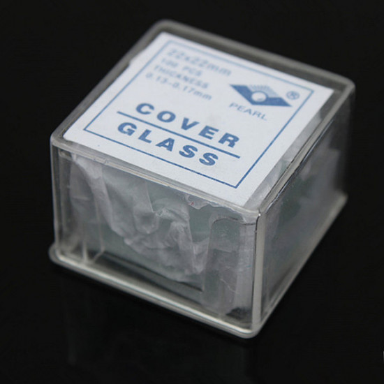 100pcs 22*22mm Microscope Coverslips Cover Glass Lab Supply 2021