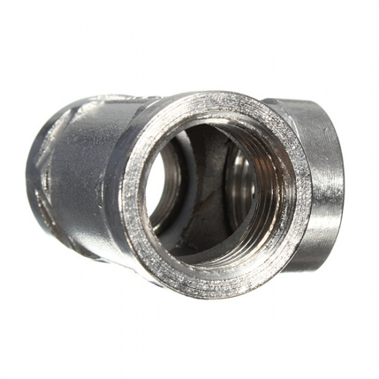 1/2 Inch Stainless Steel 304 Tee 3 Way Threaded Pipe Fittings 2021