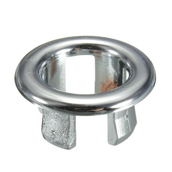 Bathroom Sink Basin Chrome Trim Overflow Hole Round Cover Silver 2021