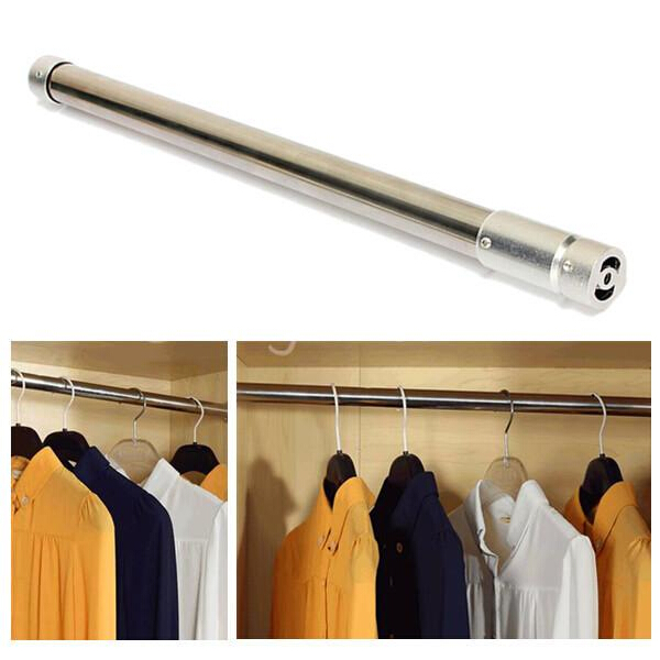 Buy Stainless Steel Tension Rod Retractable Hanging Rod