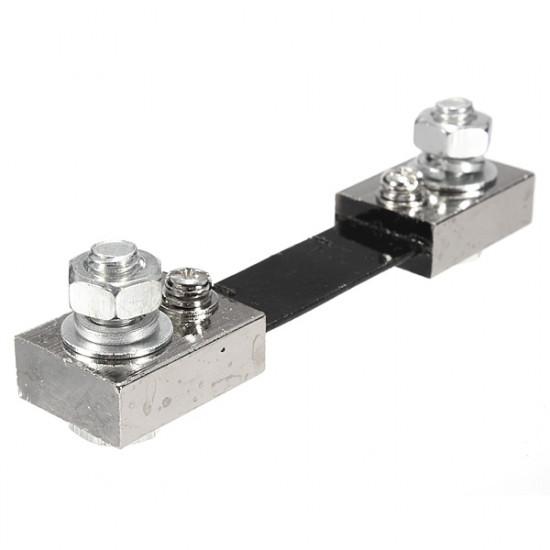 100A 75mV DC Current Shunt Resistor Panel For Analog Meter 2021