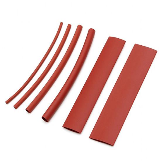 100Pcs 10cm Red Polyolefin 2:1 Halogen-Free Heat Shrink Tubing 6 Sizes 2021