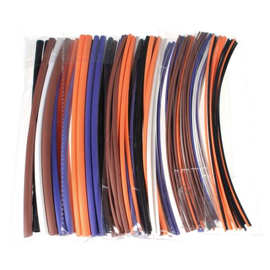 100pcs Assortment 2:1 Heat Shrink Tubing Tube Sleeving Wrap Kit 6 Size 2021