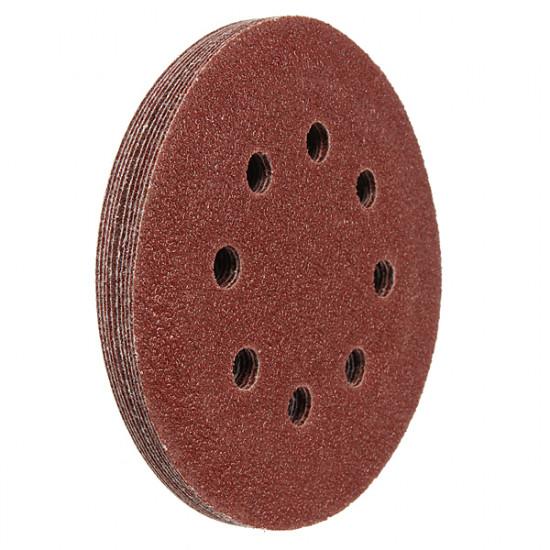 10Pcs 8 Holes Mixed Discs Sanding Sheet Hook Sander Sandpaper 2021