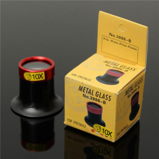 10X Monokular Förstoringsglas Lupp Lins Förstoringsglas Glasögon Reparationsverktyg 2021