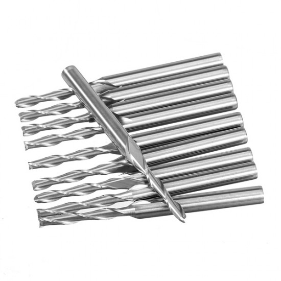 1/8 inch 10pcs 2 Flute Carbide End Mill Router Engraving Bit Tool 2021