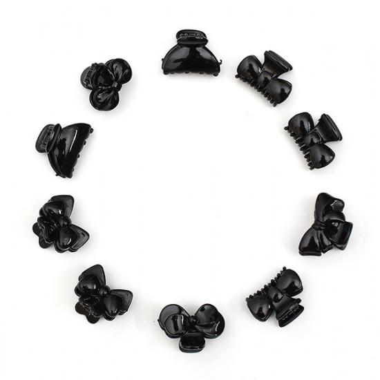 10stk mischten Art schwarze Plastikhaarnadelhaarclips Claws 2021
