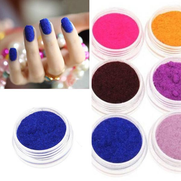 Buy 12 colors velvet powder dust nail art tool decoration for Avon nail decoration tool