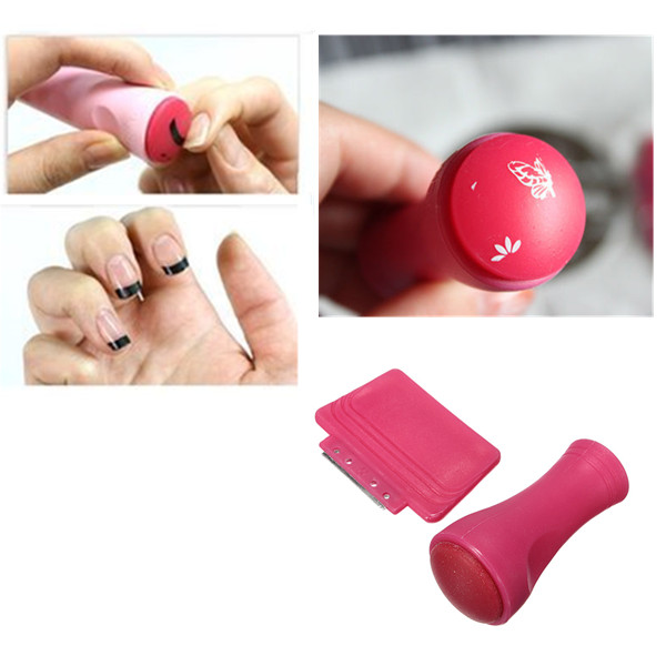 buy hot pink paint stamp scraper set nail art stamping. Black Bedroom Furniture Sets. Home Design Ideas