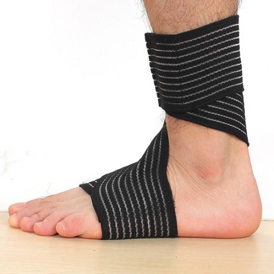 2stk Elastik Brace Protection Ankel Sport Compression Bandage 2021