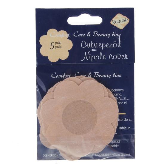 5 Par Blomst NIPPLE Non-Woven Sticker Engangs Fabric Bra 2021