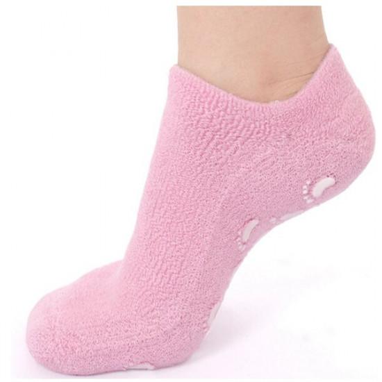 1 Paar rosa SPA Gel Feuchtigkeitsspendende Fuß Socken Hautaufhellung 2021