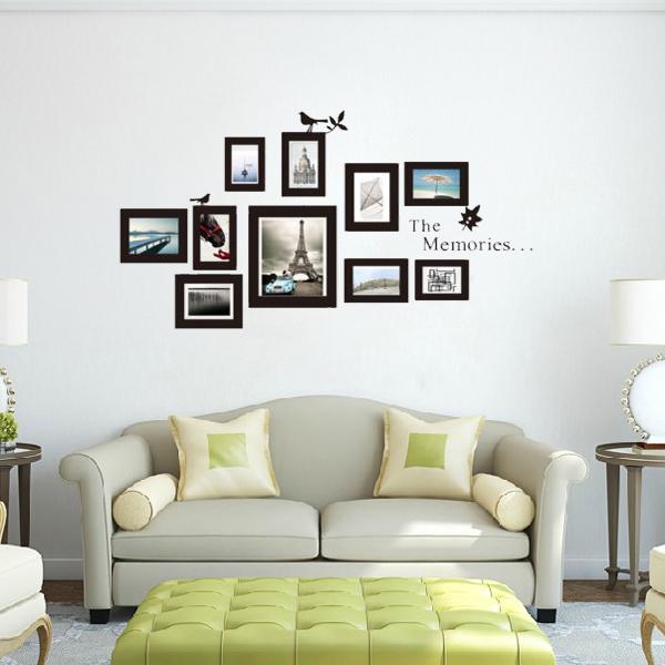 G nstig kaufen 10er foto rahmen diy set vinyl aufkleber for Dekor wohnungen