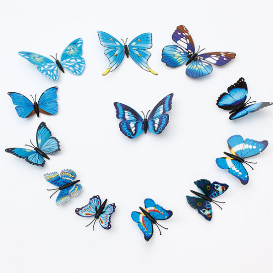 12Pcs 3D Butterfly Wall Stickers Fridge Magnet For Home Decoration 2021