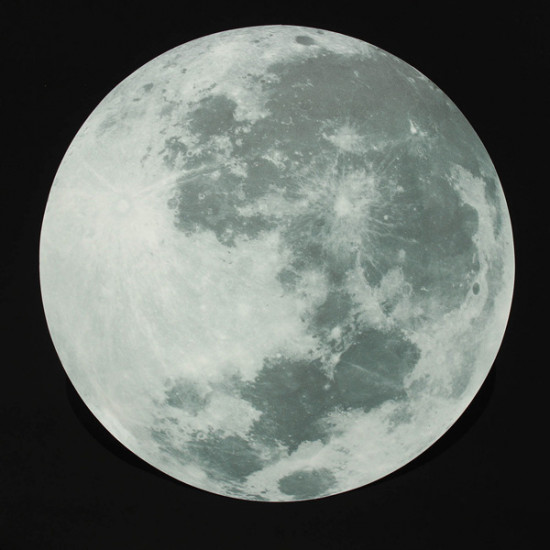 30cm Large Moon Wall Sticker Removable Glow In The Dark Sticker 2021