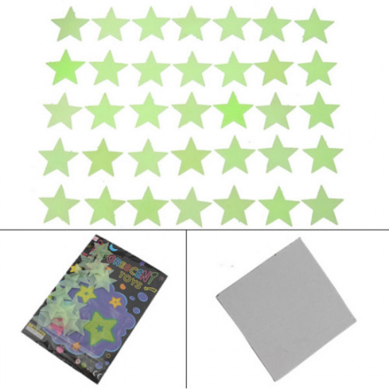 35Pcs Glow In Dark Stars Decal Art Wall Stickers Room Decor 2021