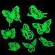 3Bags/24pcs Removable Butterfly Glow Wall Sticker Home Decor 2021