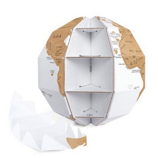 3D Scratch Globe World Map DIY Vertical World Globe 2021