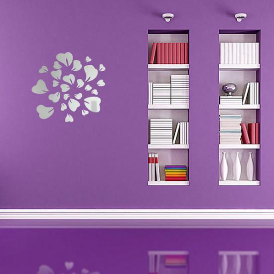 5Pcs/Set 3D Flowers Wall Sticker Decal Home DIY Art Decor 2021