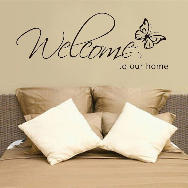 Welcome To Our Home: Buy DIY Welcome To Our Home Removable Art Vinyl Decal Wall