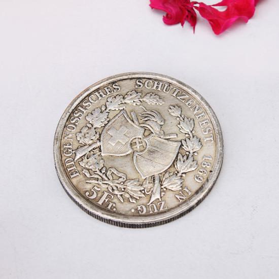 Schweiz Imitation Münze Dominikanische Republik Gedenkmünze 2021