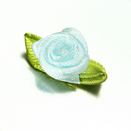 100 Ribbon Rose DIY Decor Wedding Flower Craft Sewing Leaves 2021