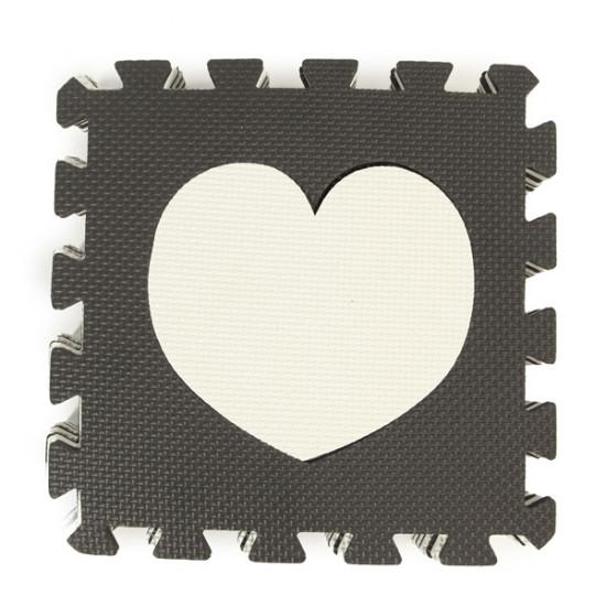 10pcs Black+White Baby Children Waterproof Eva Rubber Foam Puzzle Playmats 2021
