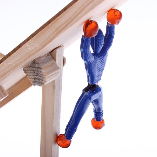 10pcs Children Toys Parcourir Wall Climbing Superman Spider Man 2021