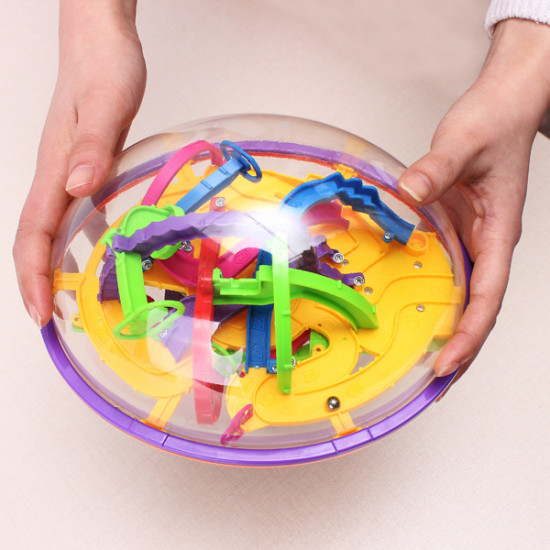 3D Magic Intellect Maze Ball Children Educational Toy 2021