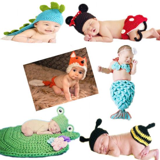9 Art Crochet Hat Cap Strickmütze Baby Kostüm Fotografie Prop 2021