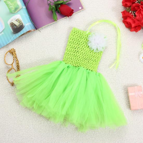 Süßigkeit Farben Baby Kind Mädchen Blumen Rüschen Princess Crochet Tutu Kleid 2021