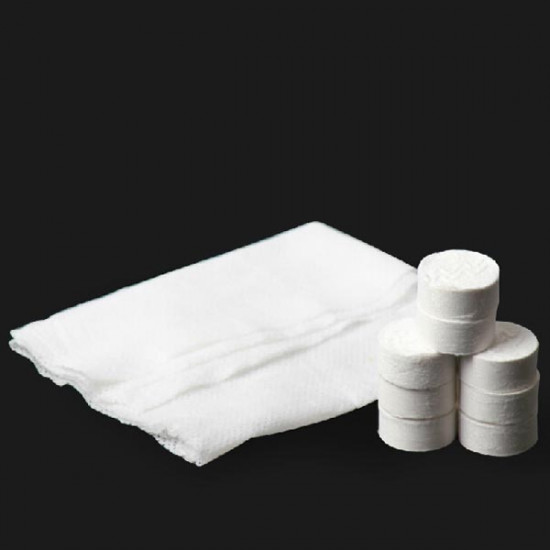 100pcs Purified Cotton Disposable Compressed Towels Travel Washcloth 2021