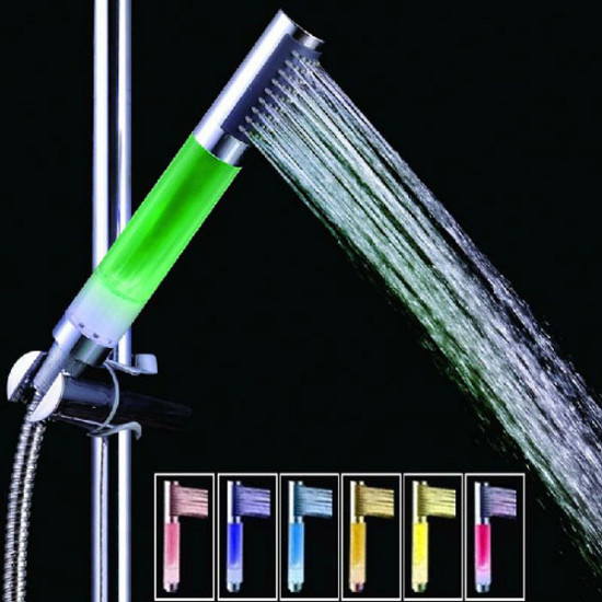 4 LED Lights 7 Colors Gradual Change Water Shower Head 2021