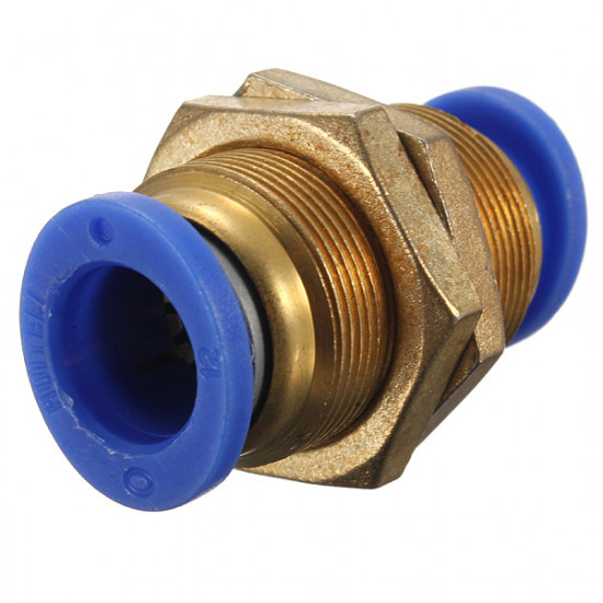 Pneumatic Push In Bulkhead Connector Fitting 2021
