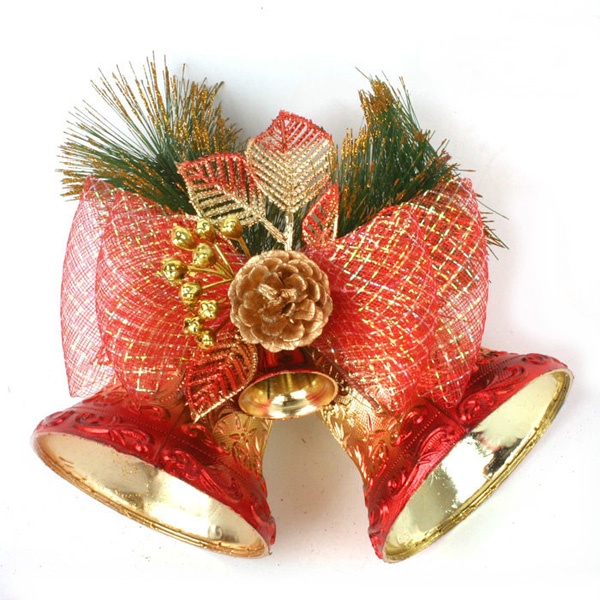 Buy Christmas Decoration Red Double Bell Hang Decoration Supplies