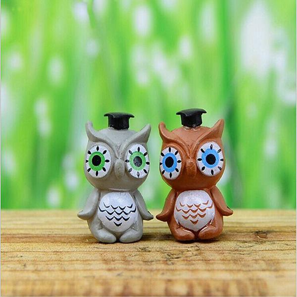 Buy Diy Landscape Cute Owl Ornaments Potted Plant Garden Decor