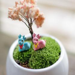 DIY Miniature Cute Deer Ornamenter potteplante Hage Decor
