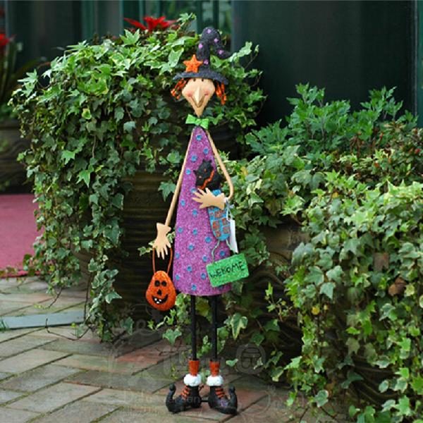 Kaufen Halloween Dekoration Cartoon Lächeln Lila Mädchen Garten ...
