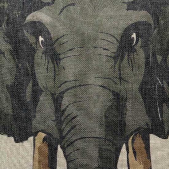 Djur Hjort Elefant Noshörning Printed Bomull Linen Örngott Kuddfodral 2021
