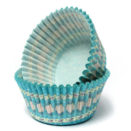 100Pcs Blue Dot Liner Cupcake Muffin Baking Paper Dessert Cup 2021
