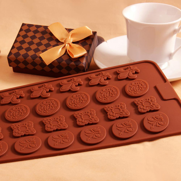 Buy Carving Flower Silicone Cake Decorating Mold Chocolate