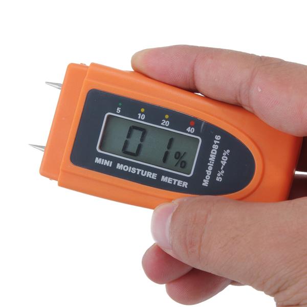 Buy mini wood moisture meter md816 wood moisture tester for Wood floor moisture meter