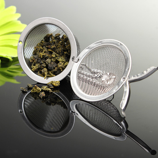 Stainless Steel Spice Tea filter Herbs Locking Infuser Mesh Ball 2021